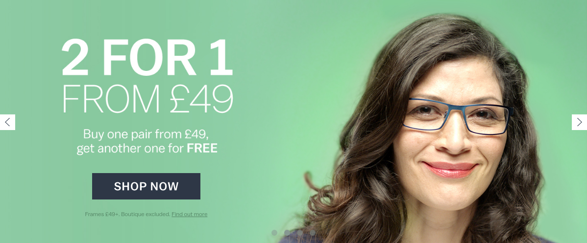 Glasses Direct: 2 pairs of glasses from £19
