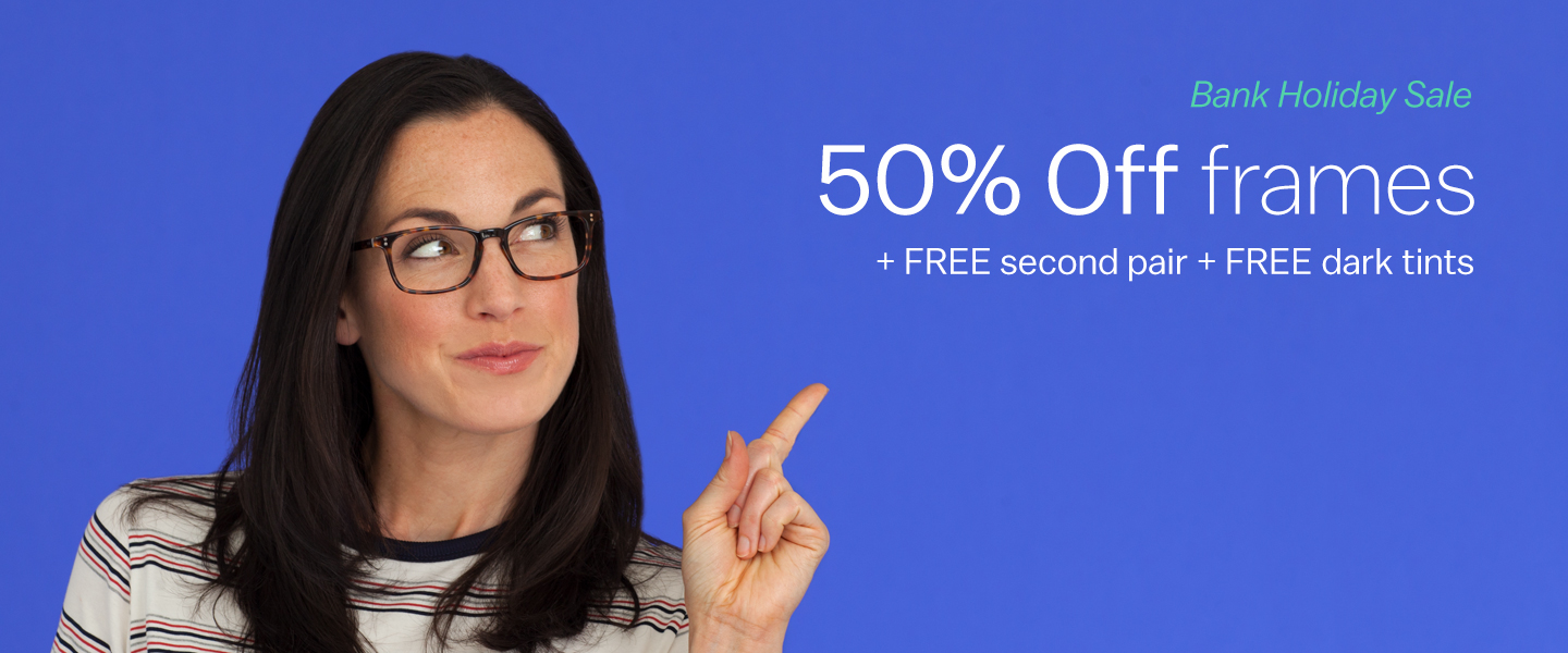 Glasses Direct: 50% off frames when you spend £49