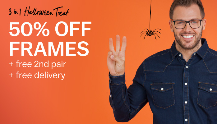 Glasses Direct: 50% off frames plus free 2nd pair and free delivery