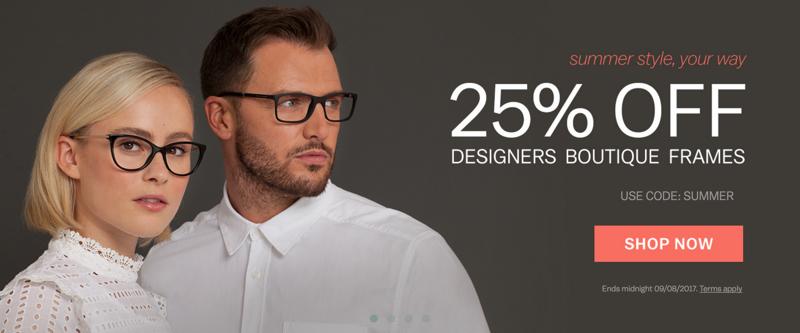 Glasses Direct Glasses Direct: 25% off designer boutique frames
