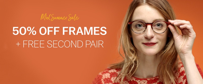 Glasses Direct Glasses Direct: Sale 50% off frames + free second pair
