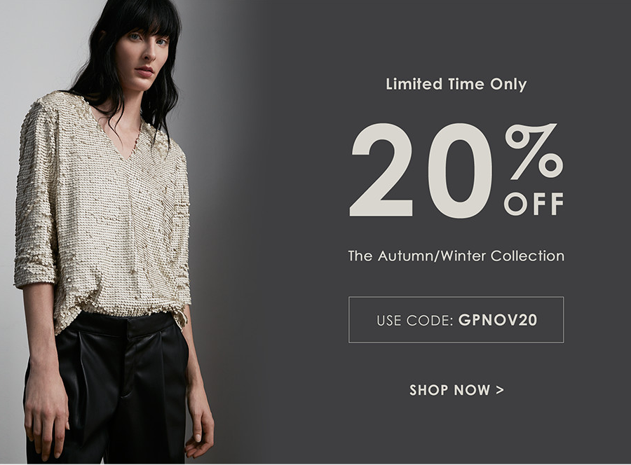 Great Plains: 20% off autumn / winter collections