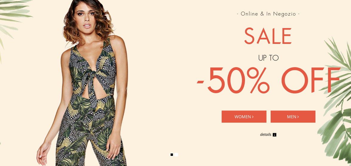 Guess: Sale up to 50% off women's and men's clothes
