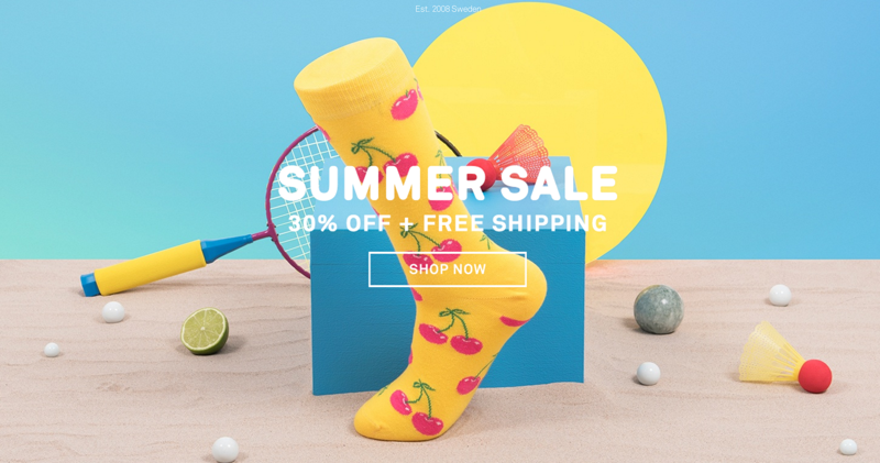 Happy Socks: Summer Sale 30% off socks