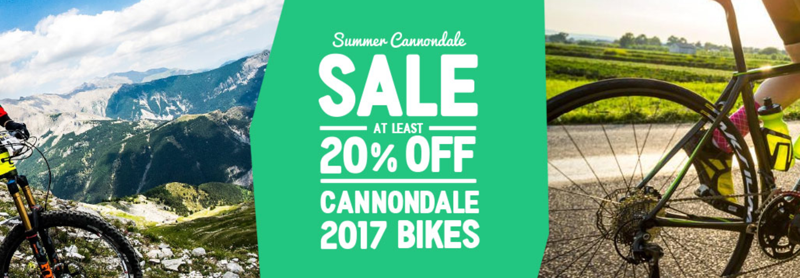 Hargroves Cycles: Sale at least 20% off cannondale 2017 bikes