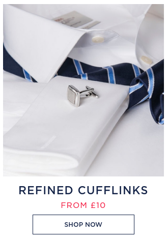 Hawes & Curtis: refined cufflinks from £10