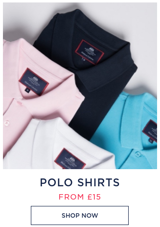 Hawes & Curtis: polo shirts from £15