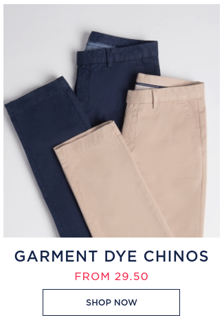 Hawes & Curtis: garment dye chinos from £29,5