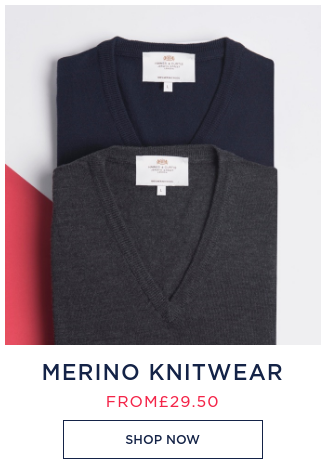 Hawes & Curtis: merino knitwear from £29,5