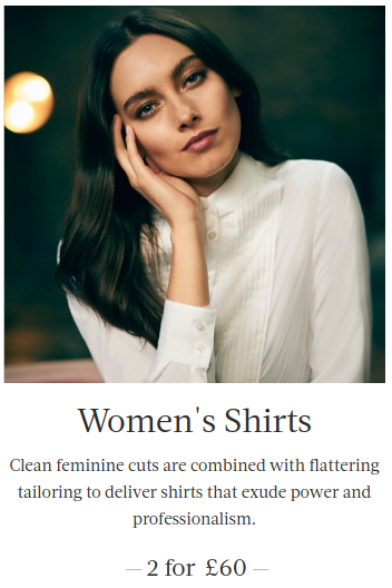 Hawes & Curtis: two womens shirts for £60