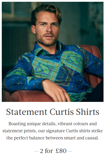 Hawes & Curtis: two Curtis shirts for £80