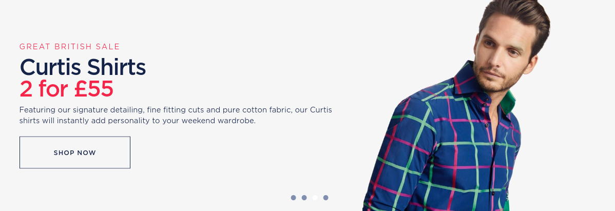 Hawes & Curtis: two Curtis shirts for £55
