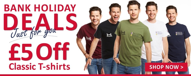 Help for Heroes: £5 off classic t-shirts