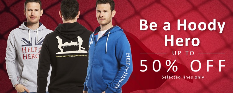 Help for Heroes: Sale up to 50% off selected hoodies