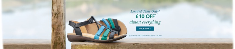 Hotter Shoes: £10 off shoes