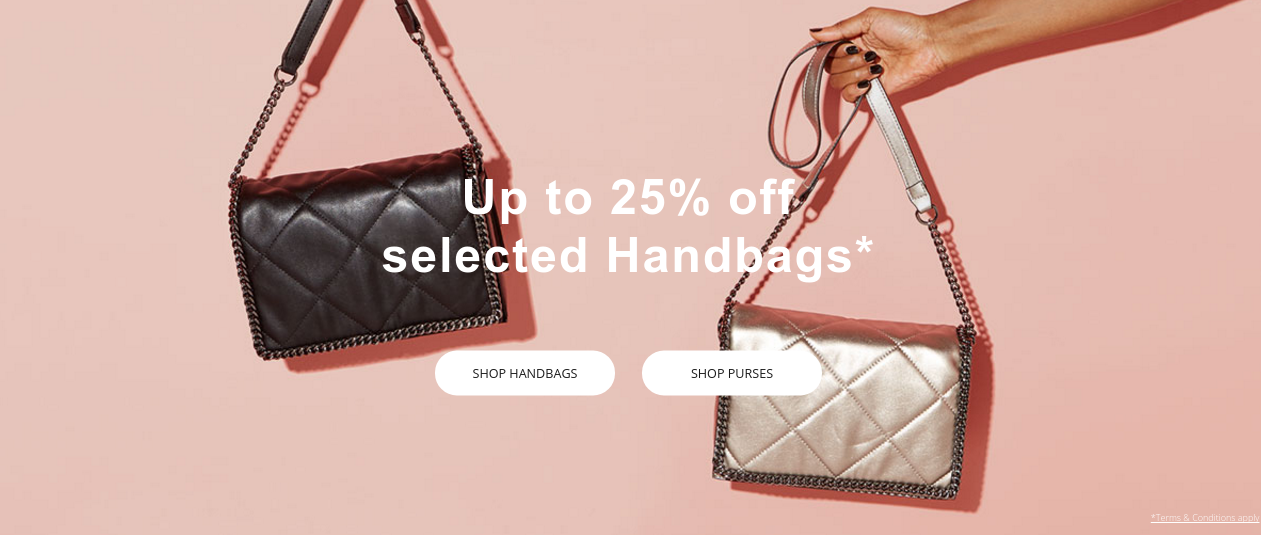 House of Fraser: up to 25% off selected handbags