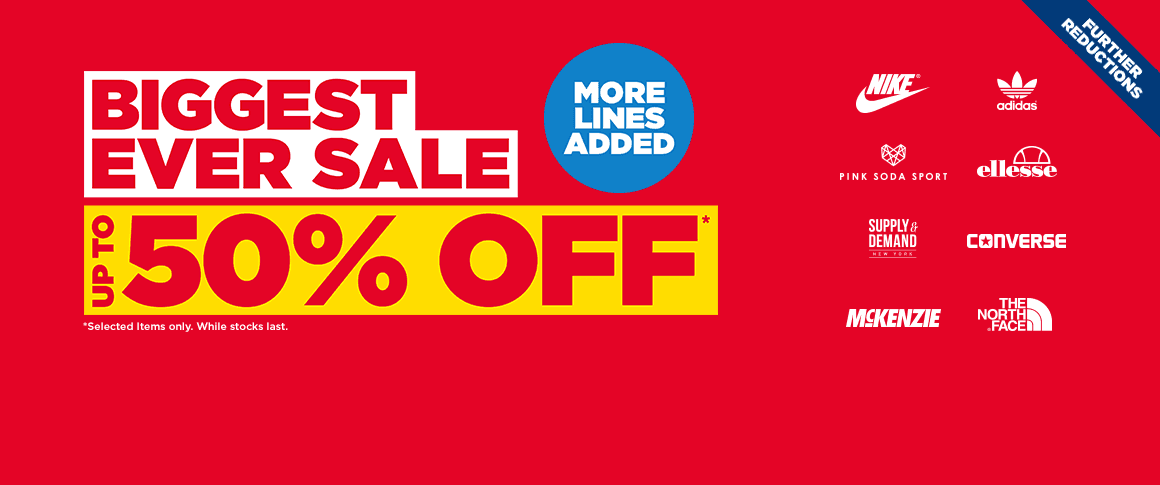 JD Sport Fashion: Sale up to 50% off sports shoes & fashion