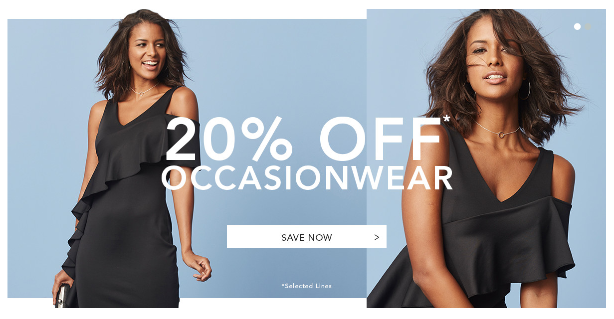 JD Williams: 20% off occasionwear