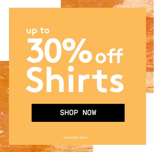 Jacamo: up to 30% off shirts