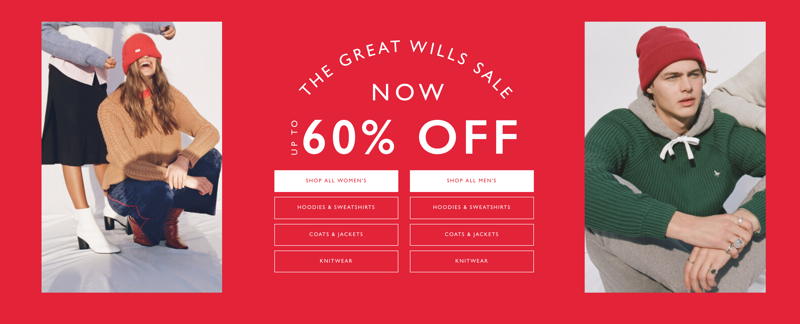 Jack Wills: Sale up to 60% off women's and men's clothing