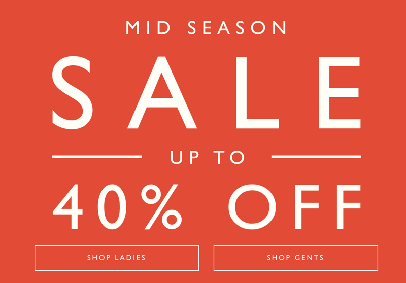 Jack Wills: Mid Season Sale up to 40% off ladies and gents clothes