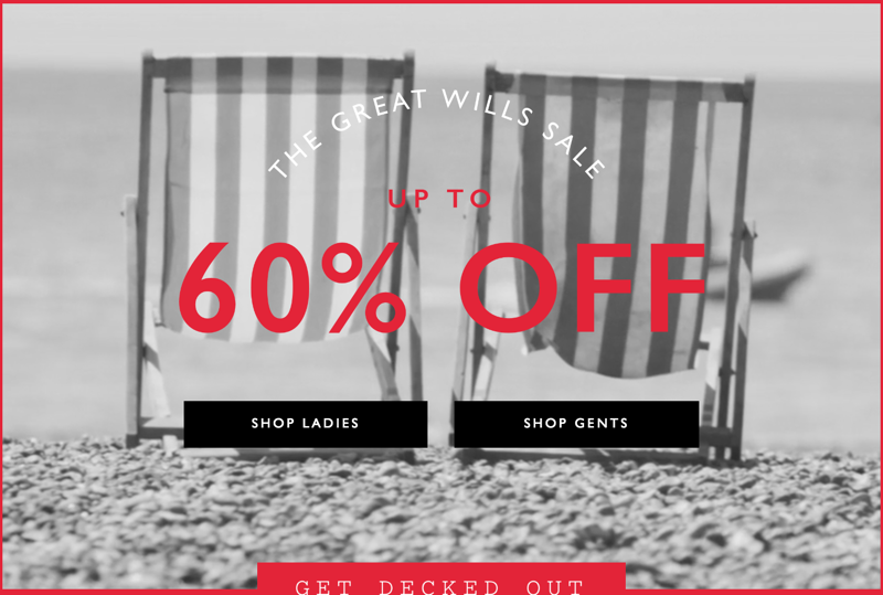 Jack Wills Jack Wills: Sale up to 60% off ladies and gents fashion