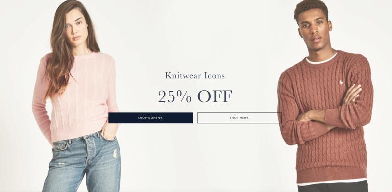 Jack Wills Jack Wills: 25% off women's and men's knitwear