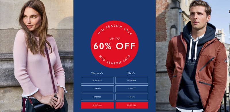 Jack Wills Jack Wills: Mid Season Sale up to 60% off women's and men's fashion