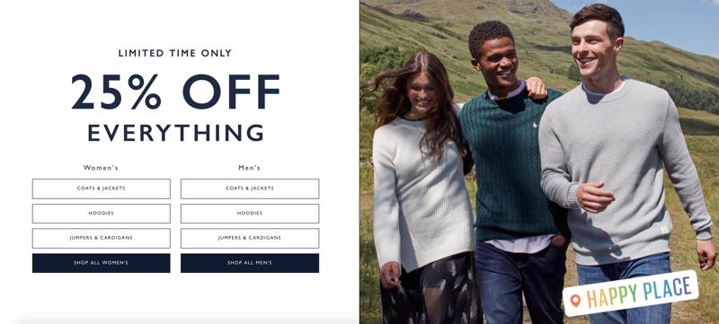 Jack Wills Jack Wills: 25% off women's and men's fashion