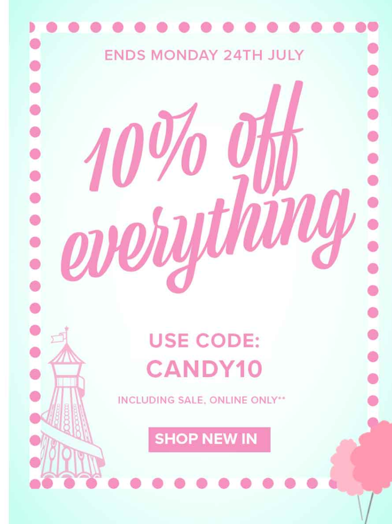 Jane Norman: 10% everything off including sale clothing, shoes & accessories