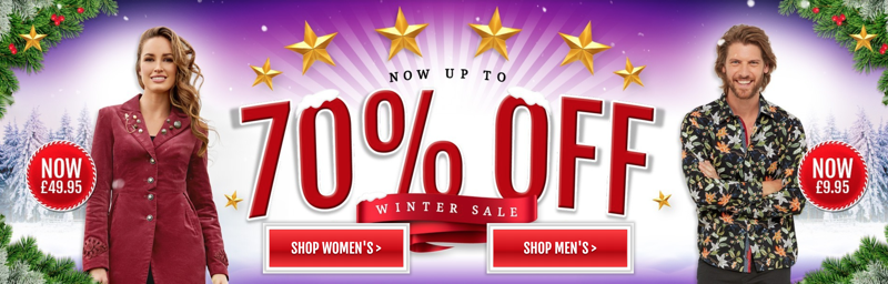 Joe Browns Joe Browns: Sale up to 70% off womens and mens clothes, shoes and accessories