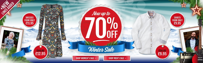 Joe Browns Joe Browns: Sale up to 70% off womens and mens clothes, shoes & accessories