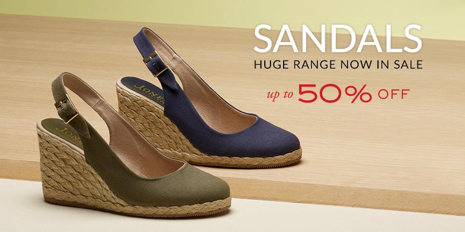 Jones Bootmaker: Sale up to 50% off huge range of sandals