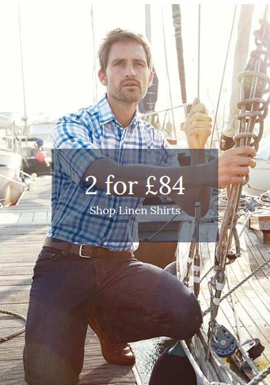 Joseph Turner: 2 linen shirts for £84