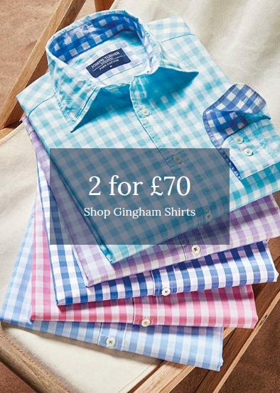 Joseph Turner: 2 gingham shirts for £70