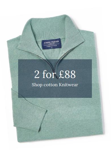 Joseph Turner: 2 cotton knitwear for £88