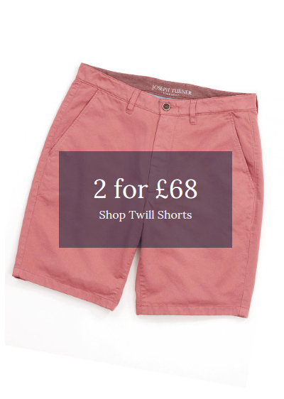 Joseph Turner: 2 twill shorts for £68
