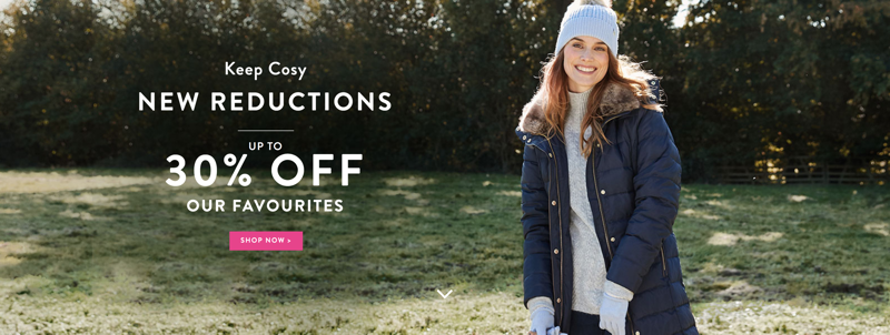 Joules Joules: up to 30% off favourite winter styles
