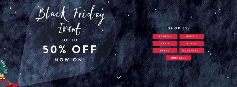 Joules Black Friday Joules: up to 50% off women's, men's & children's clothing and footwear
