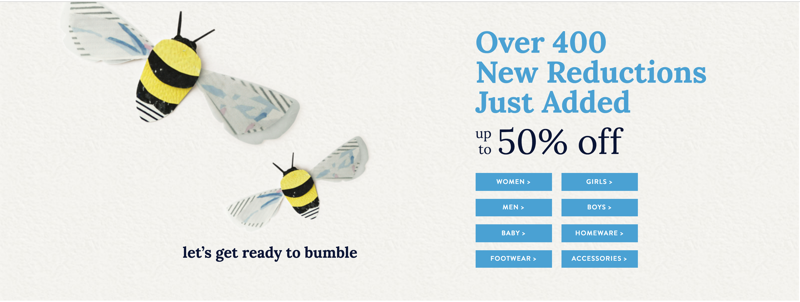 Joules: up to 50% off women's, men's and children's clothing and footwear