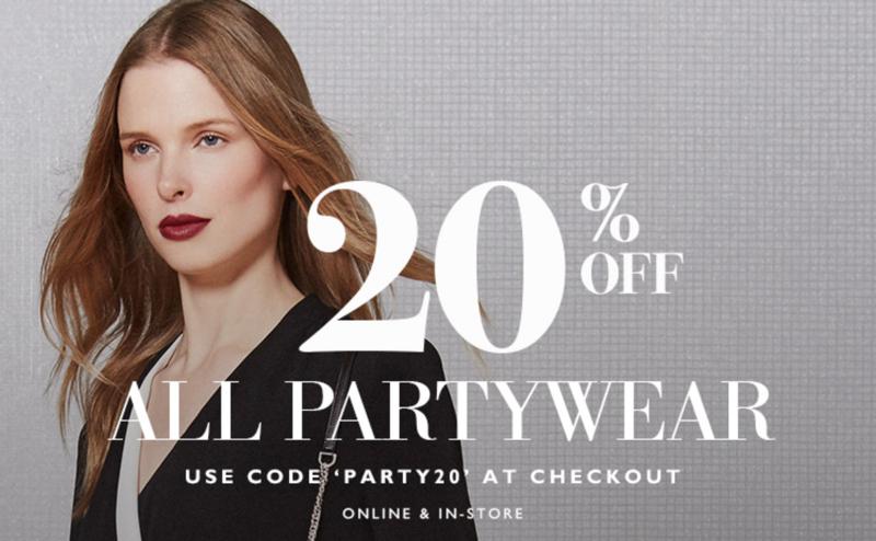 L.K. Bennett: 20% off all partywear