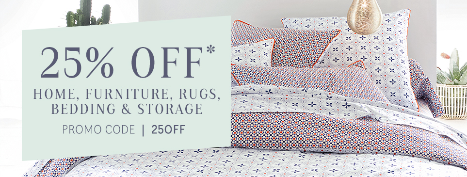 La Redoute: 25% off home, furniture, rugs, bedding and storage