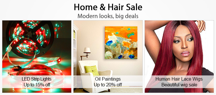 Light in the Box Light in the Box: Sale up to 20% off home and hair products