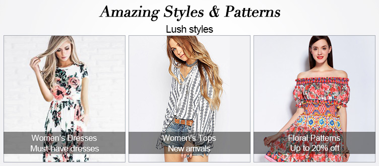 Light in the Box: up to 20% off amazing styles and patterns
