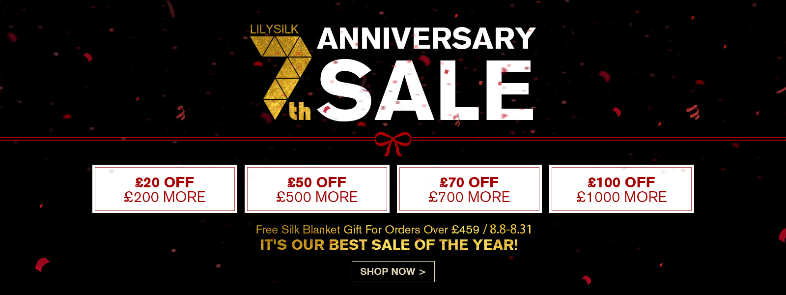 LilySilk LilySilk: up to £100 off silk products