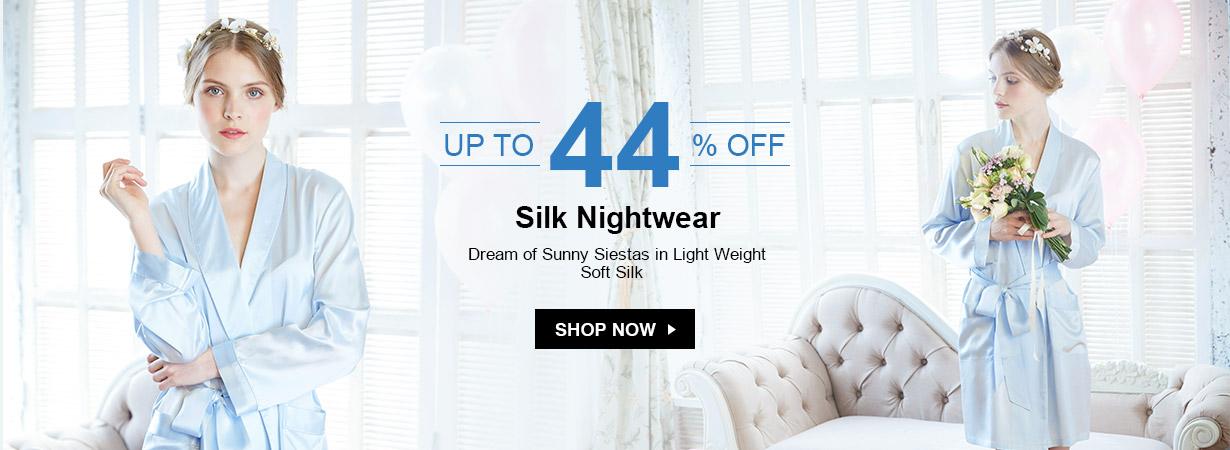 LilySilk LilySilk: up to 44% off silk nightwear