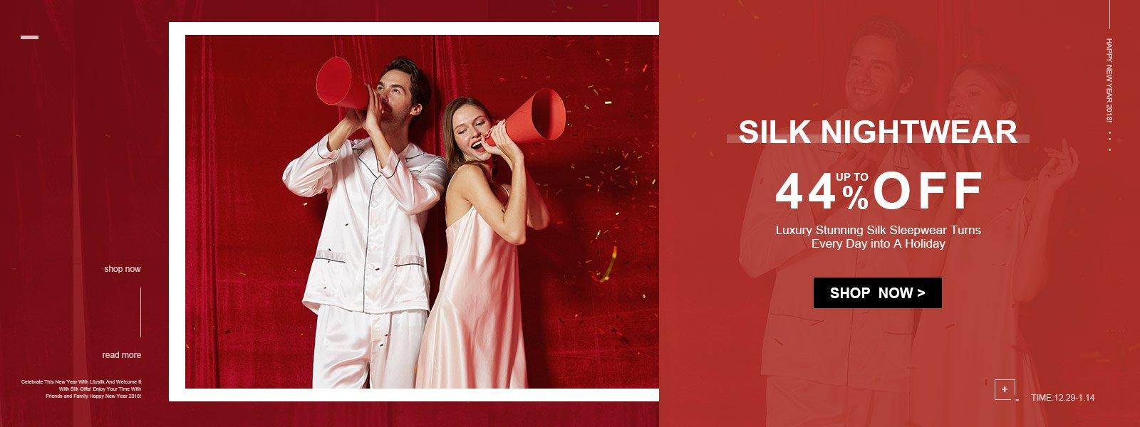 LilySilk LilySilk: Sale up to 44% off silk nightwear