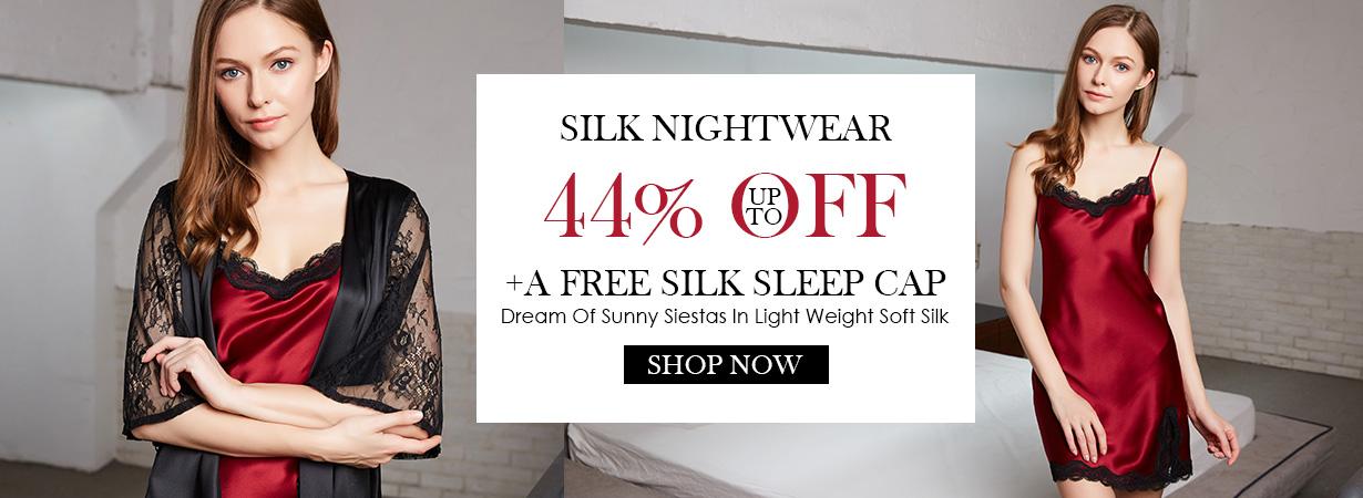LilySilk Lily Silk: up to 40% off silk nightwear
