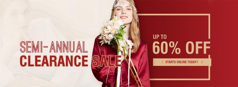 LilySilk Lily Silk: Sale up to 60% off nighwear