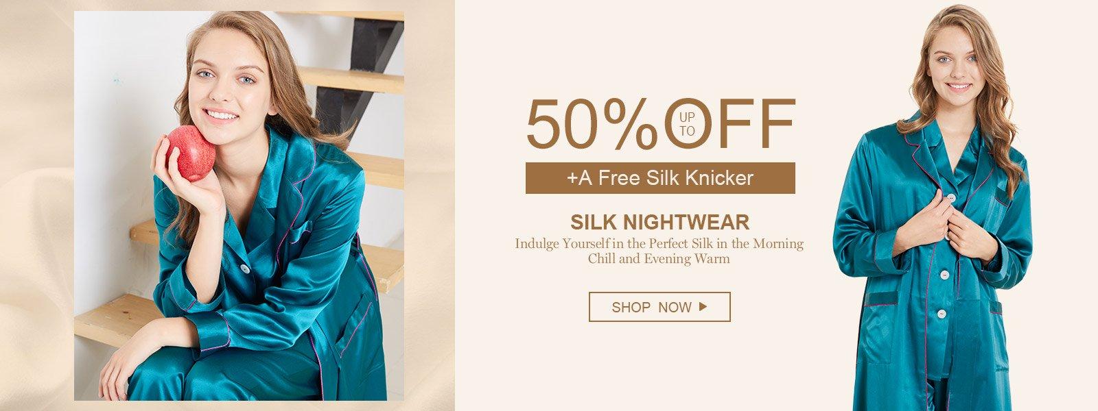 LilySilk LilySilk: up to 50% off silk nightwear
